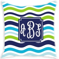 Waves Pattern Personalized Couch Pillow