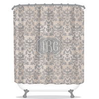 Vintage Damask Personalized Shower Curtain