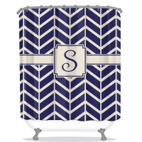 Williston Print Personalized Shower Curtain