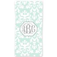 Vintage Damask Personalized Beach or Bath Towel