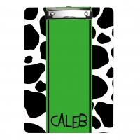 Cow Print Personalized Clipboard
