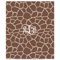 Giraffe Print Personalized Velveteen Plush Blanket Throw