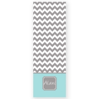 Color Block Chevron Personalized Yoga Mat