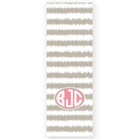 Ikat Stripes Personalized Yoga Mat