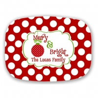 Merry & Bright Personalized Christmas Platter