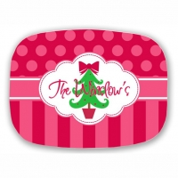 Oh Christmas Tree Personalized Christmas Platter