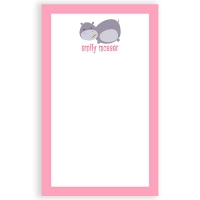 Happy Hippo Personalized Notepad