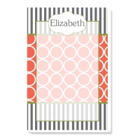 Hoops & Stripes Personalized Notepad