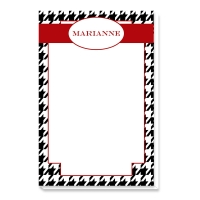 Houndstooth Print Personalized Notepad