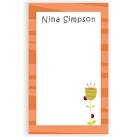 Ladybugs & Flower Personalized Notepad