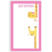 Upside Down Giraffe Personalized Notepad