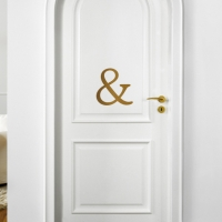 & Ampersand Door Decal