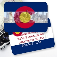 Colorado Flag Personalized Monogrammed Bag or Luggage Tag
