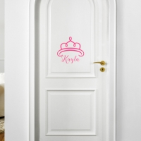 Girls Name Personalized Vinyl Door Decal