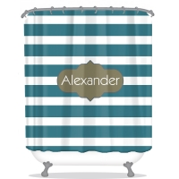 Stripes Personalized Shower Curtain