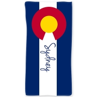 Colorado Flag Personalized Beach or Bath Towel