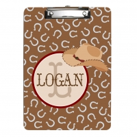 Cowboy Personalized Clipboard