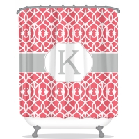 Criss Cross Trellis Pattern Personalized Shower Curtain