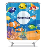 Ocean Adventure Personalized Shower Curtain