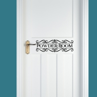 Powder Room Door Decal