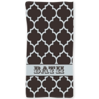 Quatrefoil Pattern Personalized  Beach or Bath Towel