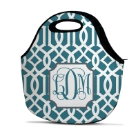 Lattice Print Personalized Insulated Lunch Tote