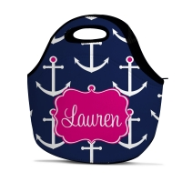 Preppy Anchor Personalized Insulated Lunch Tote