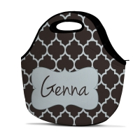 Quatrefoil Personalized Insulated Lunch Tote