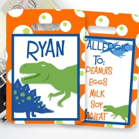 Dinosaur Personalized Kids Bag Tag