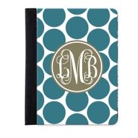 Monogrammed iPad Jacket Polka Dot Pattern