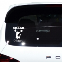 Cheer Personalized Car Window Decal