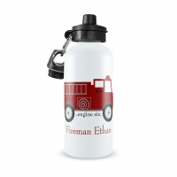 Fire Engine Personalized Water Bottle