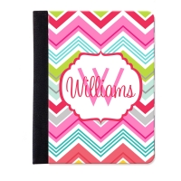 Chevron Multi Color Personalized iPad Mini Folio Case