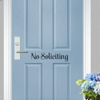 No Soliciting Door Decal