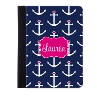 Preppy Anchors Personalized iPad Mini Folio Case