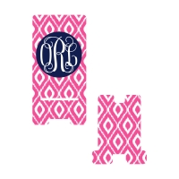Personalized Pink Ikat Phone Stand