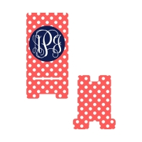 Personalized Coral Dot Phone Stand