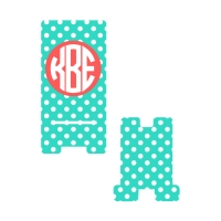 Personalized Mint Dot Phone Stand
