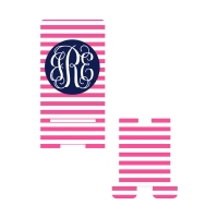 Personalized Pink Stripes Phone Stand