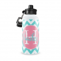 Chevron Personalized Water Bottle