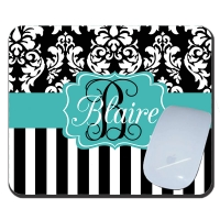Dandy Damask Personalized Mousepad
