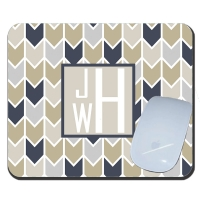 Herringbone Personalized Mousepad
