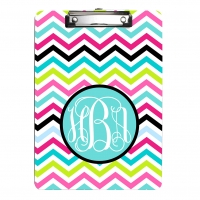 Rainbow Chevron Personalized Clipboard