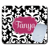 Vintage Damask Custom Personalized Mouse Pad