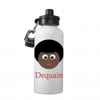 Personalized Boys Water Bottle-Afro Boy