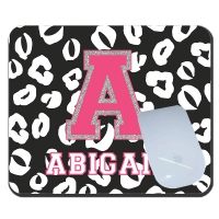 Cheetah Collegiate Personalized Mousepad, Monogrammed Mousepad