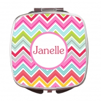 Multi Color Chevron Compact Mirror