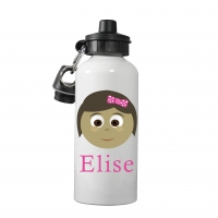 Personalized Girls Water Bottle-Cute Bob