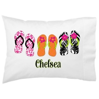 Flip Flops Kids Personalized Pillowcase