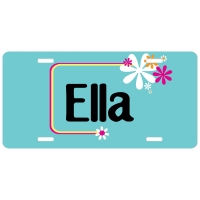 Flower Power Personalized Car Tag - Decorative License Plate - Personalized Wall Art